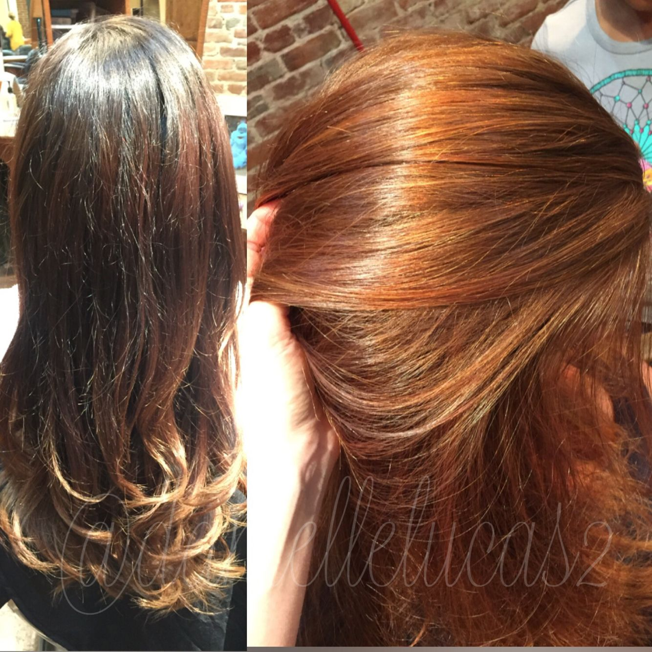 Brunette to redhead
