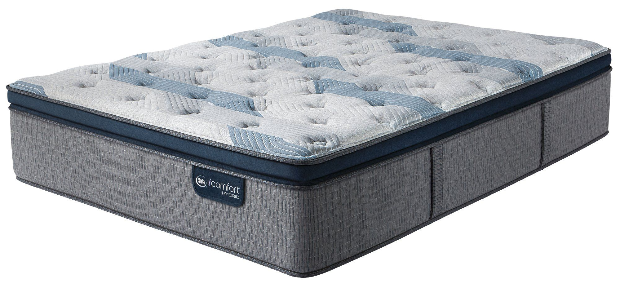 Serta 300 Pillow Top Split California King Mattress Blue