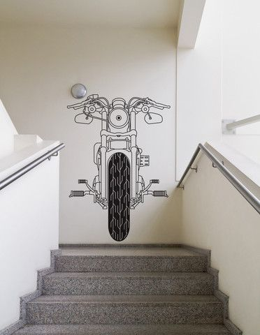 Vinyl Wall Decal Sticker Front of Motorcycle #OS_DC748 | Stickerbrand wall art decals wall graphics and wall murals. & Vinyl Wall Decal Sticker Front of Motorcycle #OS_DC748 | Pinterest ...
