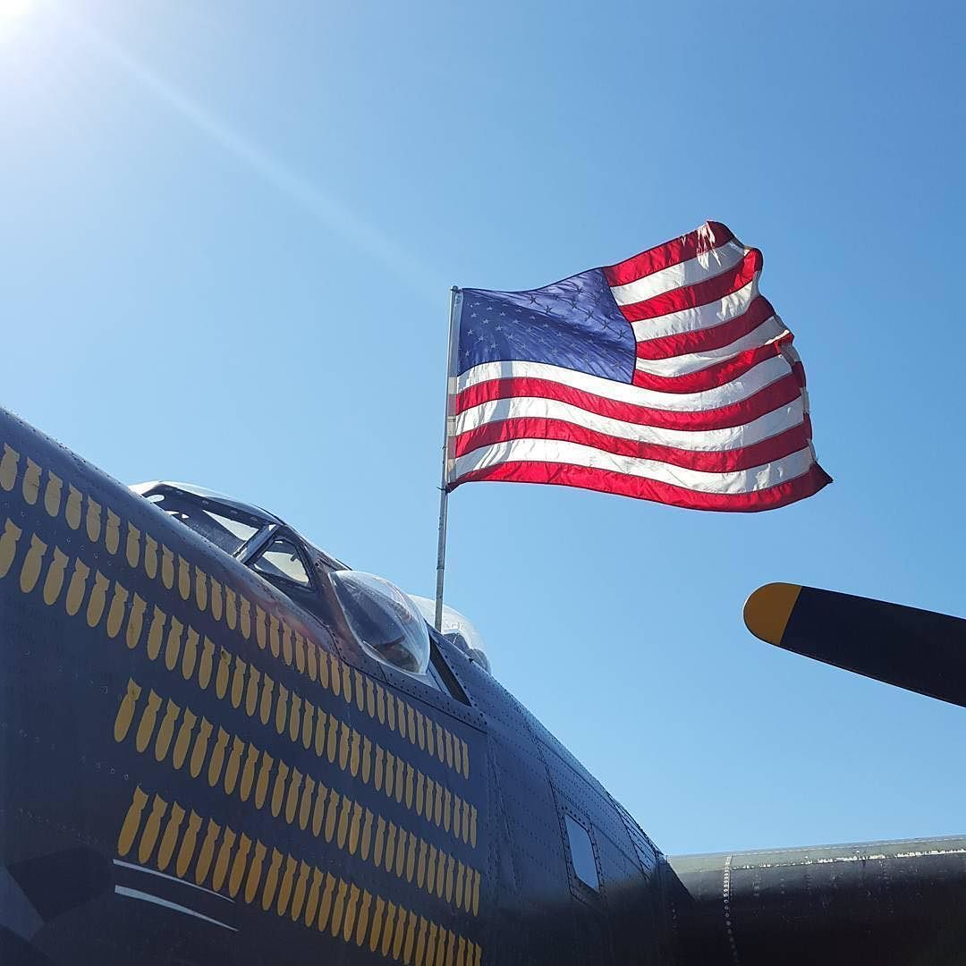 #Repost @andrew_bann  I tried hard to get the flag like this... #B24 #B24J #Collingsfoundation #flyingwarbirds #warbirds #warbird #B24Liberator #wingsoffreedom #wingsoffreedomtour #ConsolidatedAircraft #ConsolidatedB24 #ConsolidatedB24J #witchcraft #KPNS #PNS #Pensacola #PensacolaInternationalAirport #Pensacolaairport #upsideofPensacola #FlyPensacola #vintage #avgeek #aviation #fixedwing #America #AmericanFlag #Flag #CountriesFlag