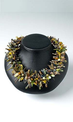 Jewelry Design - Single-Strand Necklace with Lampworked Glass Beads and Drops - Fire Mountain Gems and Beads