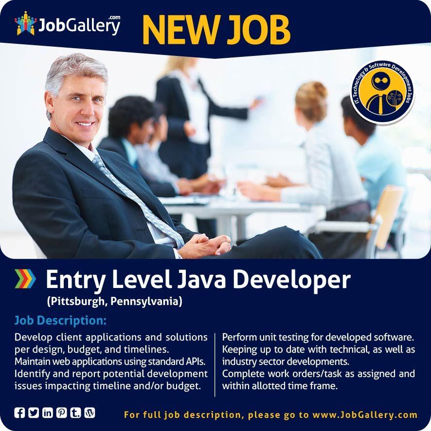 Entry level java developer entry level web developer