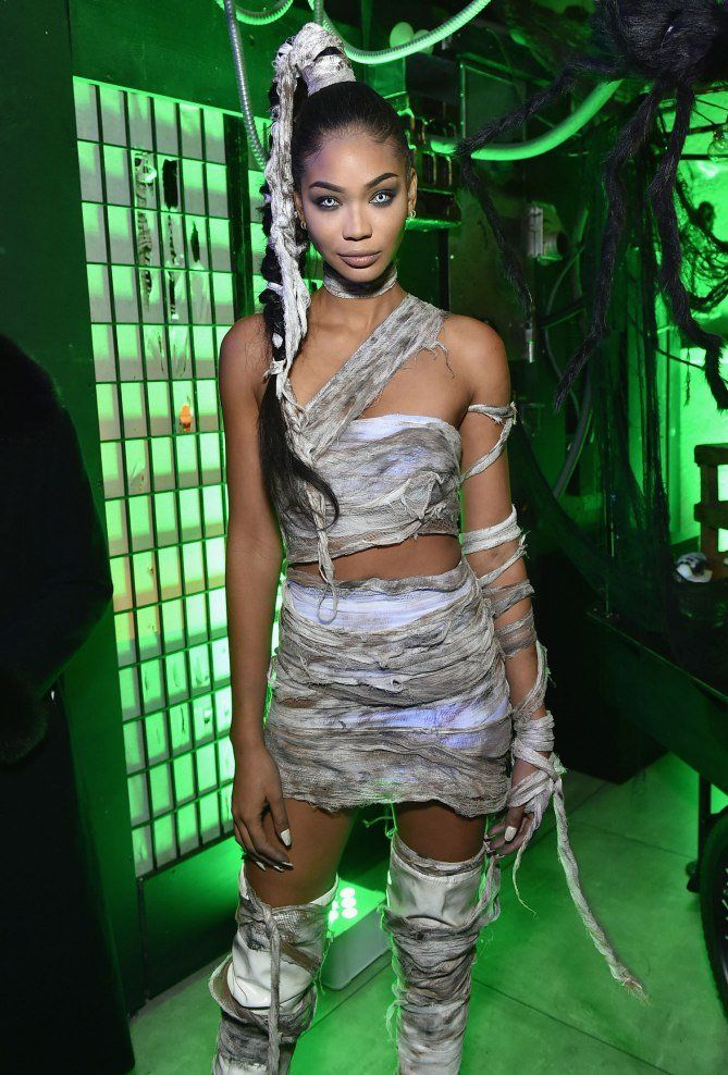 Stylish Easy Celebrity Halloween Costume Ideas - Chanel Iman as a mummy  sc 1 st  Pinterest & Stylish Halloween Costume Ideas to Steal from Your Favorite Celebs ...