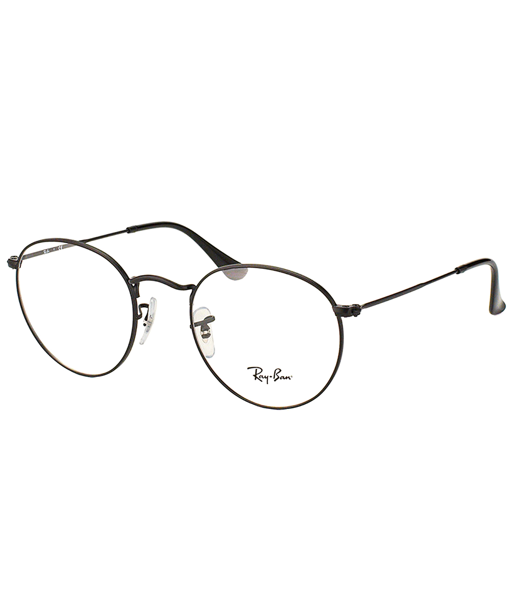 Ray Ban Round Metal Clubmaster Eyeglasses In Matte Black Modesens Ray Ban Round Metal Eyeglasses Ray Bans