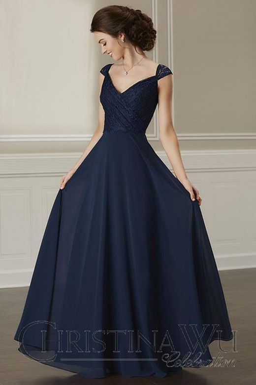 Christina Wu 22892 Lace Top Bridesmaid Dress In 2020 Cap Sleeve Bridesmaid Dress Bridesmaid Dresses Lace Top Simple Gowns