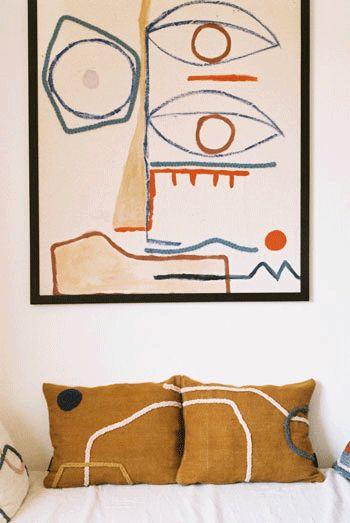 Tendance décoration art abstrait pour un style atelier d'artiste - Arty home decor // Hellø Blogzine blog deco & lifestyle www.hello-hello.fr #art