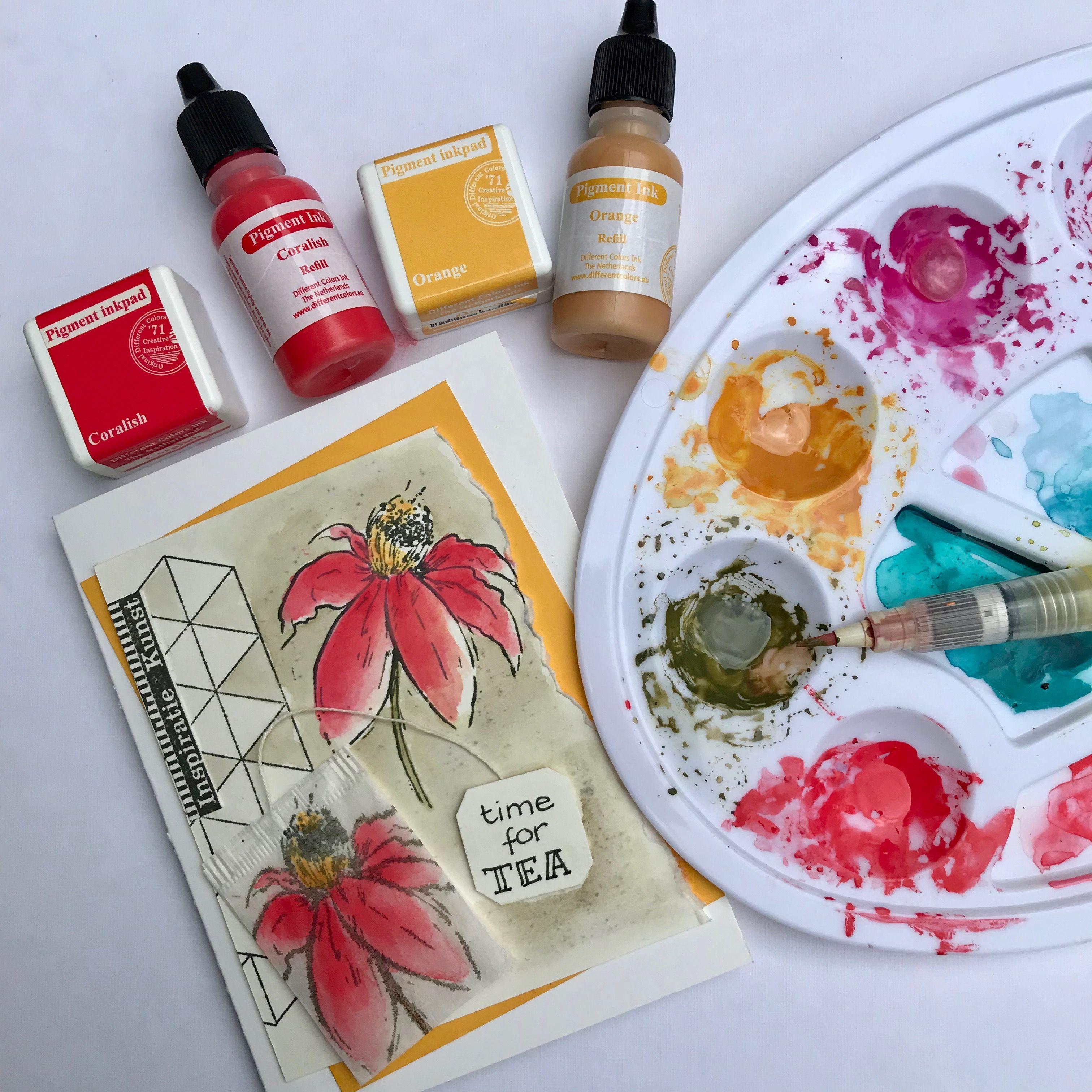 TEA BAG ART - Different Colors/Ludiec