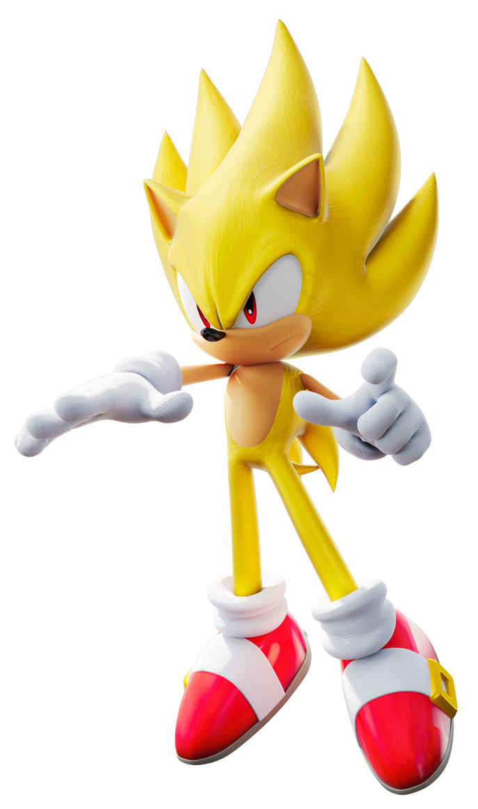 Super sonic style no aura by tbsf yt sonic sonic - Super sonic 6 ...