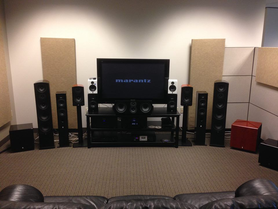 Aperion Audio Speaker Show Room In 2020 Home Theater Surround Sound Best Home Theater Audio Speakers