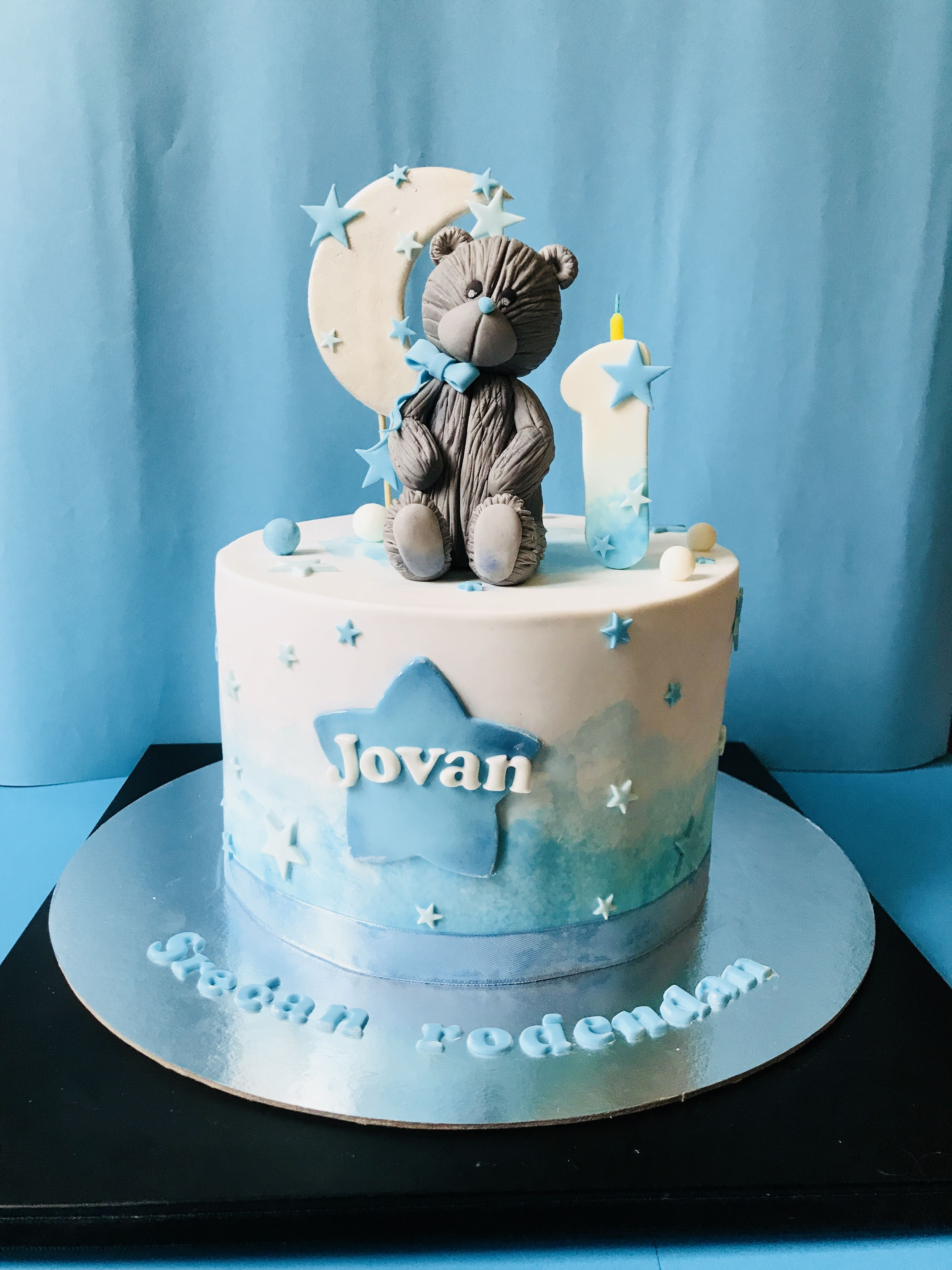 Peachy Teddy Bear Cake For Boy 1St Birthday Cake Baby Bear Tedy Bear Baby Birthday Cards Printable Trancafe Filternl