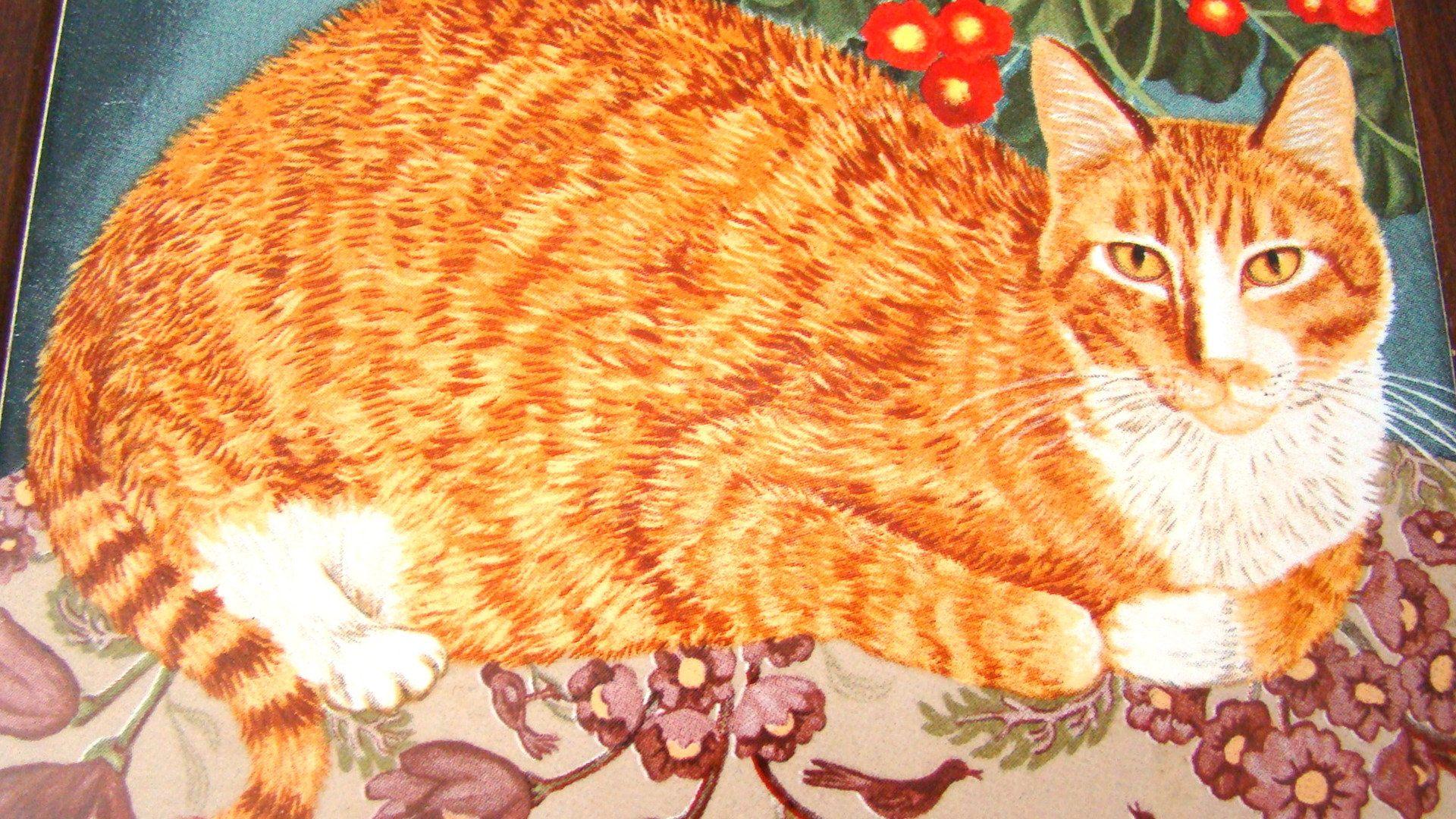 1989 Avon Cat Trivet Mimi Vang Olsen Artist Orange Tabby