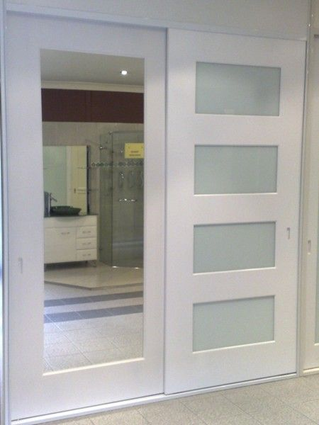 closet doors with horizontal semi-translucent glass . mirrored doors with wide trim . Perfect Australian Wardrobes & closet doors with horizontal semi-translucent glass . mirrored doors ...