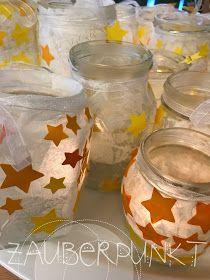 Sternenlaterne, DIY KINDER; Lichterglanz, Sterne, Kindergarten. Licht #weihnachtsdekoglas