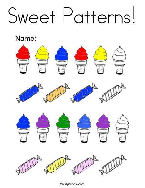 Sweet Patterns Coloring Page - Twisty Noodle   Pattern ...