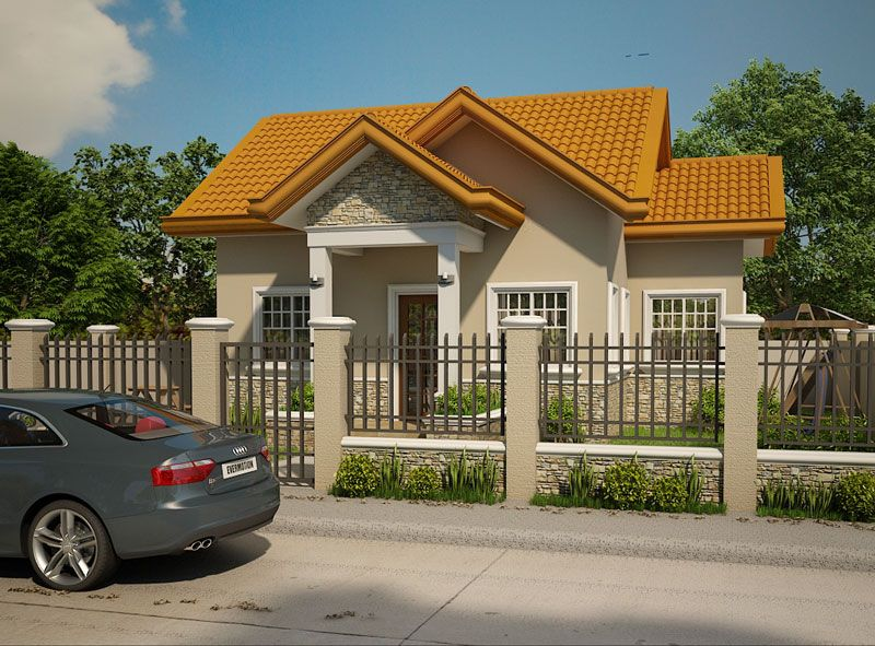 this 2 bedroom small house design is a compact house plan which can be build in a small lot a 10o meter x 110 meter lot size can accommodate thi