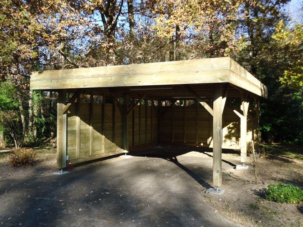 carport en bois à Rion des Landes (40370) Carport bois