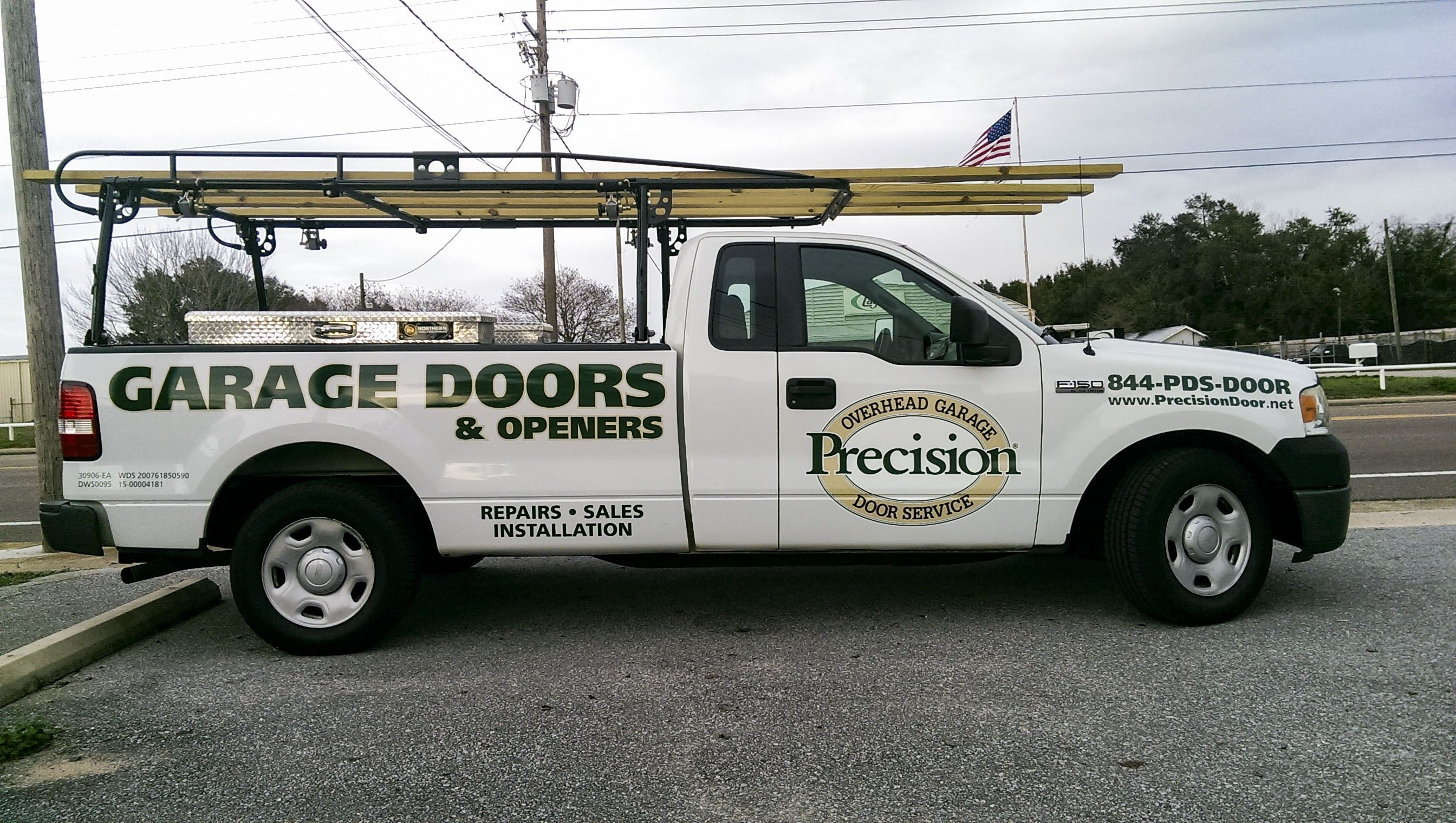 Precision Door Service Truck Graphics By Pensacola Sign In Pensacola Florida  F0 9f 9a 97 F0 9f 92 A8 On Average Vehicle Wraps Cost Less Than 1 Per Thousand Impressions And