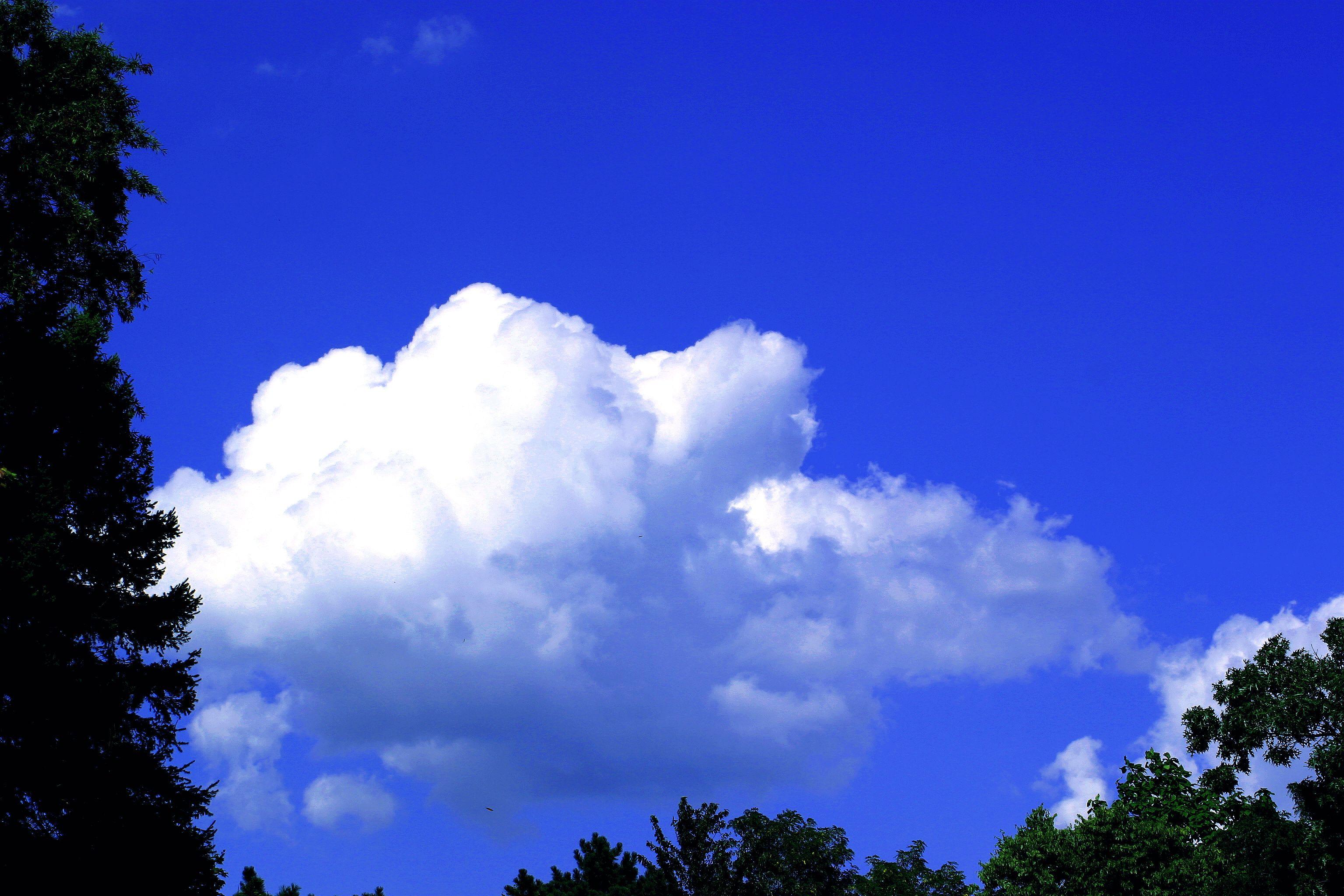 Blue Sky Clouds - Original (3,072 2,048 Pixels,
