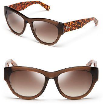 48ad18c9f4 Dior Flanelle Cat s Eye Sunglasses - Lyst