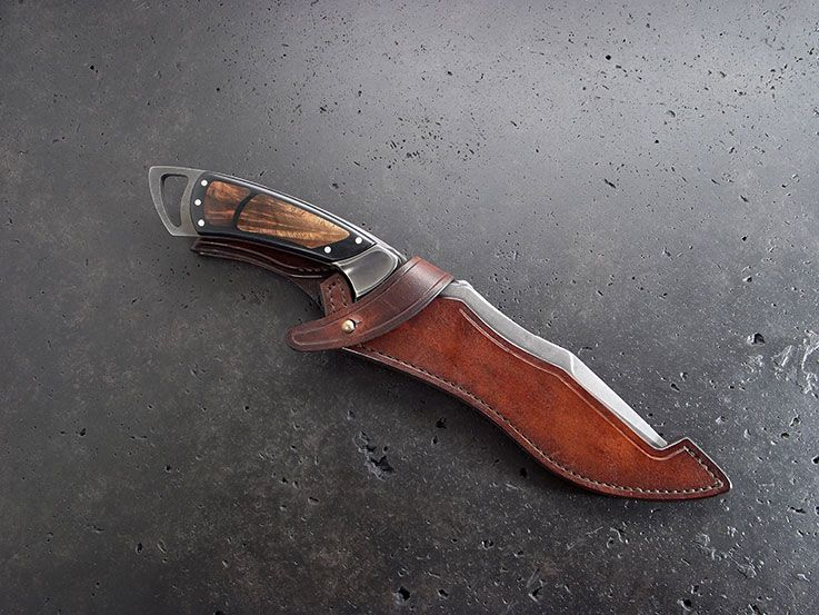 Leather sheath for sword or dagger