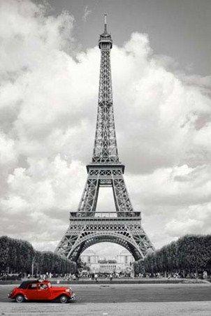 Historic eiffel tower paris iconography