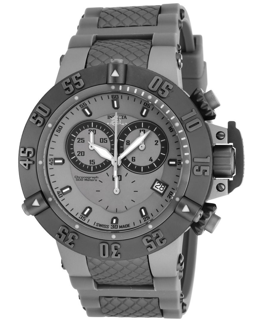 0f8dbd10e33 Invicta Men s Chronograph Subaqua Noma Iii Gray Stainless Steel Bracelet  Watch 50mm 17214