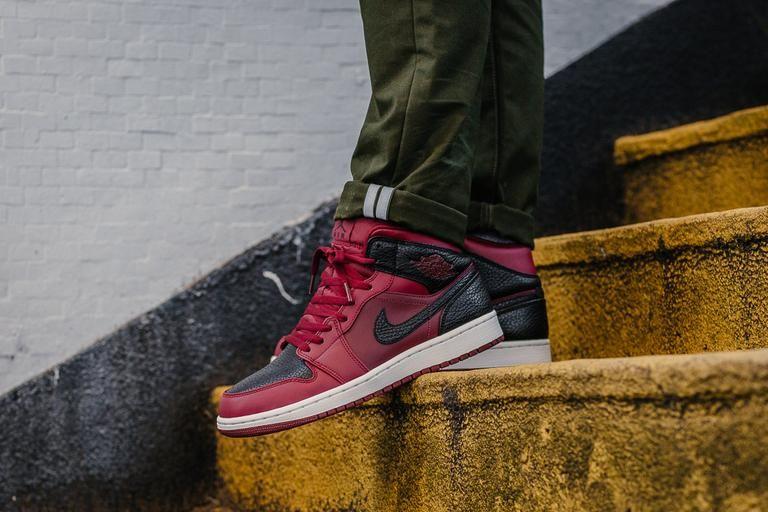 Pin By Gervel Salmon On Red Shoes Air Jordans Fresh Sneakers Jordan 1 Mid