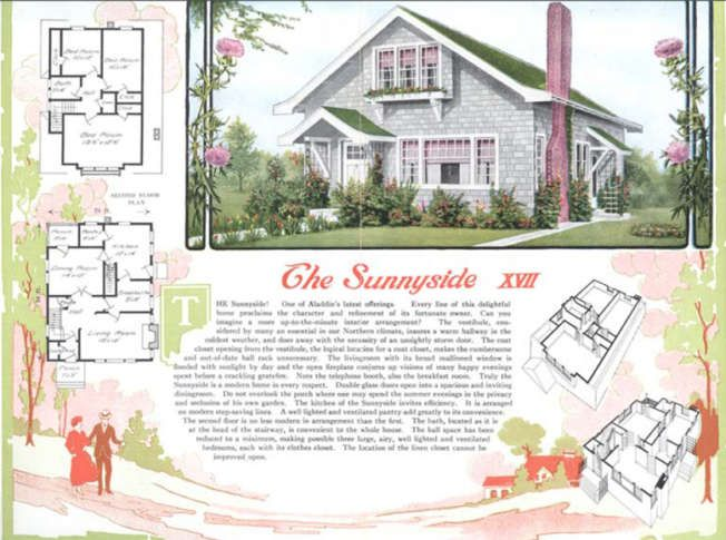 Dc S Hidden Secret Million Dollar Homes Built From Diy Kits Wtop Kit Homes Vintage House Plans Simple House Exterior
