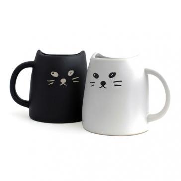 Sun Art Black cat Tea for one.Tea cup