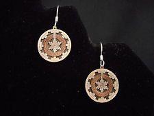 WEDDING BASKET Earrings pierced WIRE NAVAJO sterling silver DETAILED vintage
