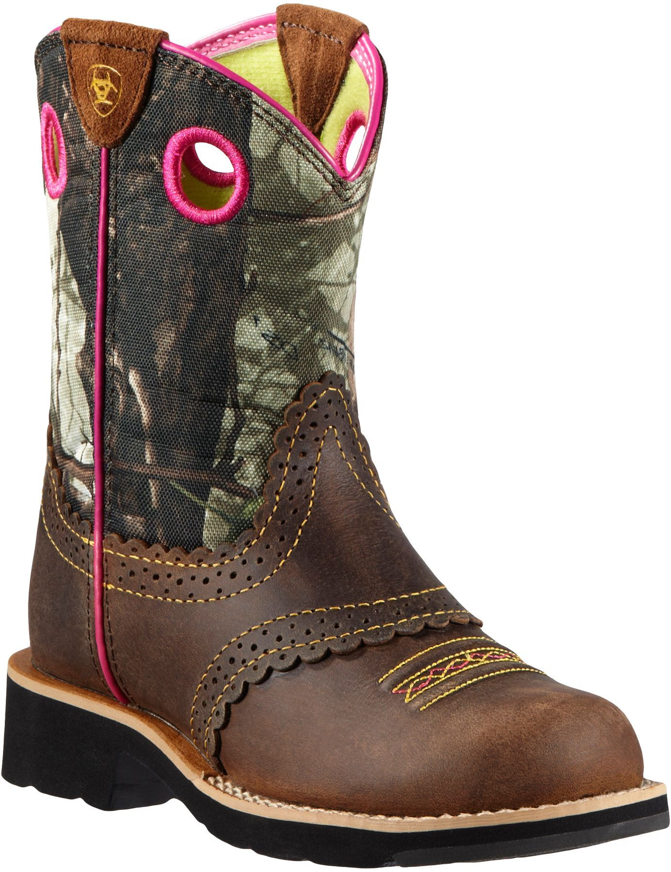 Ariat girls fatbaby cowgirl camo with images boots