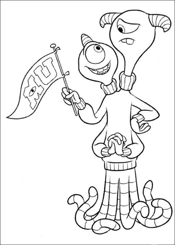 Monsters Inc. University Coloring Pages 22 Coloring
