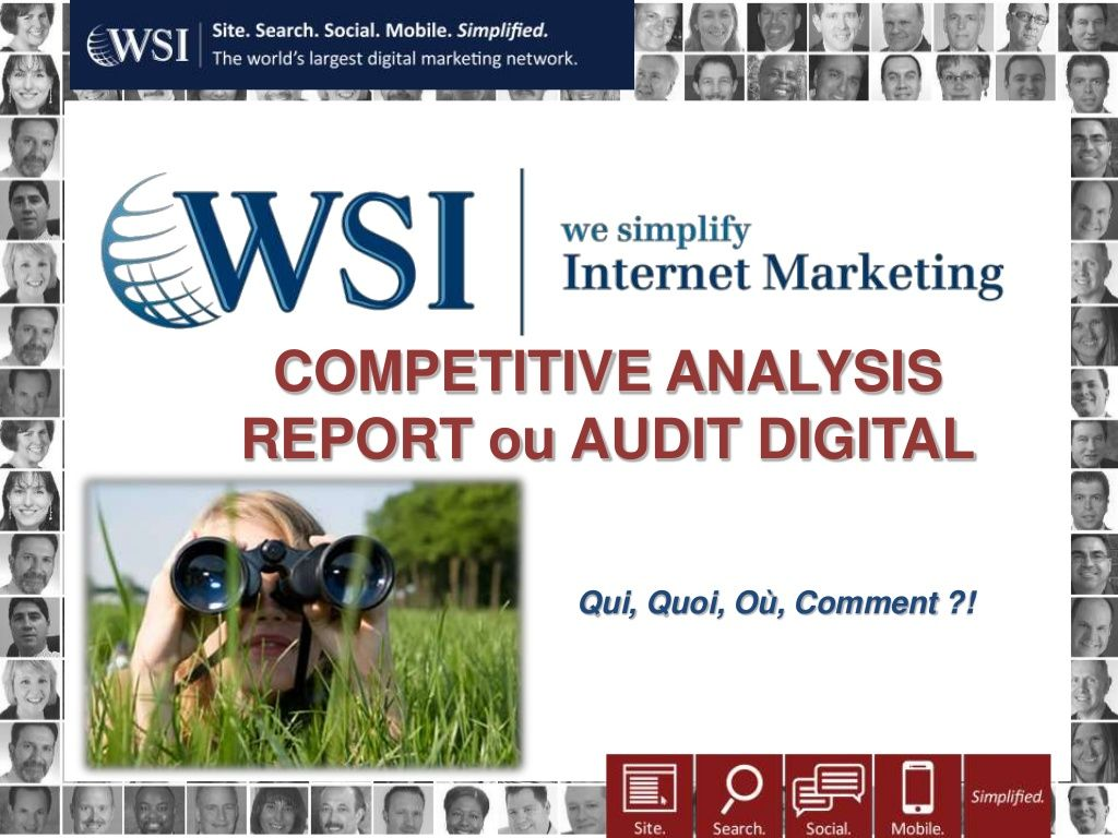 Competitive Analysis Report by WSI Réseau France via Slideshare