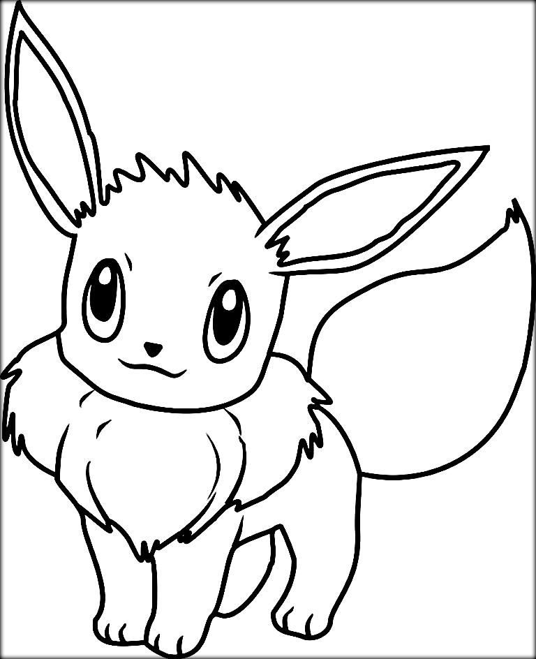 Pokemon Colouring Pages Eevee | colouring | Pinterest
