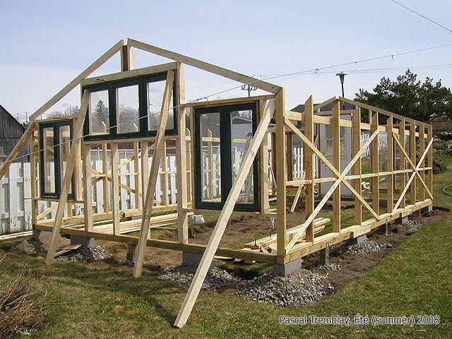 Charpente avant et arri re de la serre de jardin voir comment construire for Installer une serre de jardin