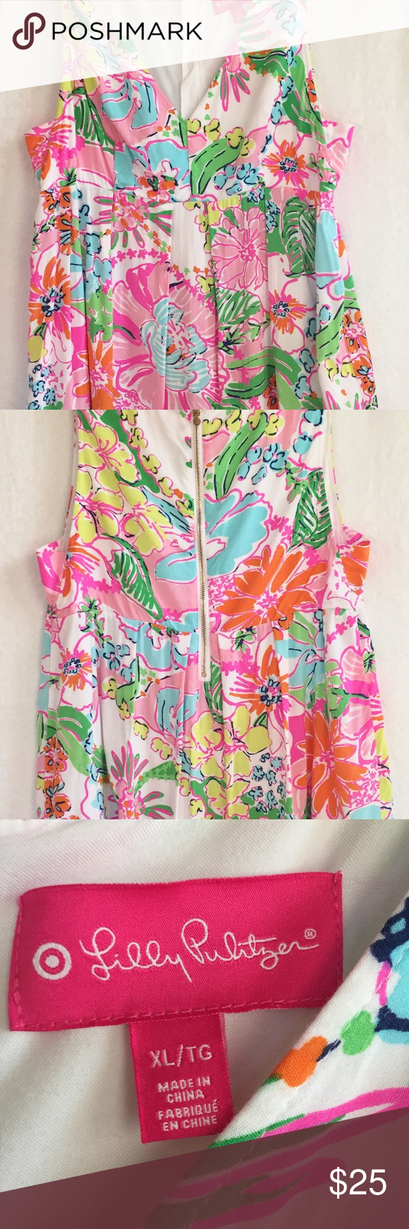 Lilly Pulitzer For Target Floral Dress Size Xl Beautiful Strapless Floral Dress From Lilly P Tropical Floral Print Lilly Pulitzer Target Strapless Floral Dress [ 1740 x 580 Pixel ]