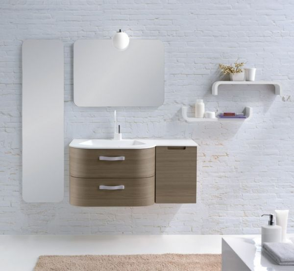 the long and short mirror is a good idea contemporary minimalist bathroom design - Minimalist Bathroom Design