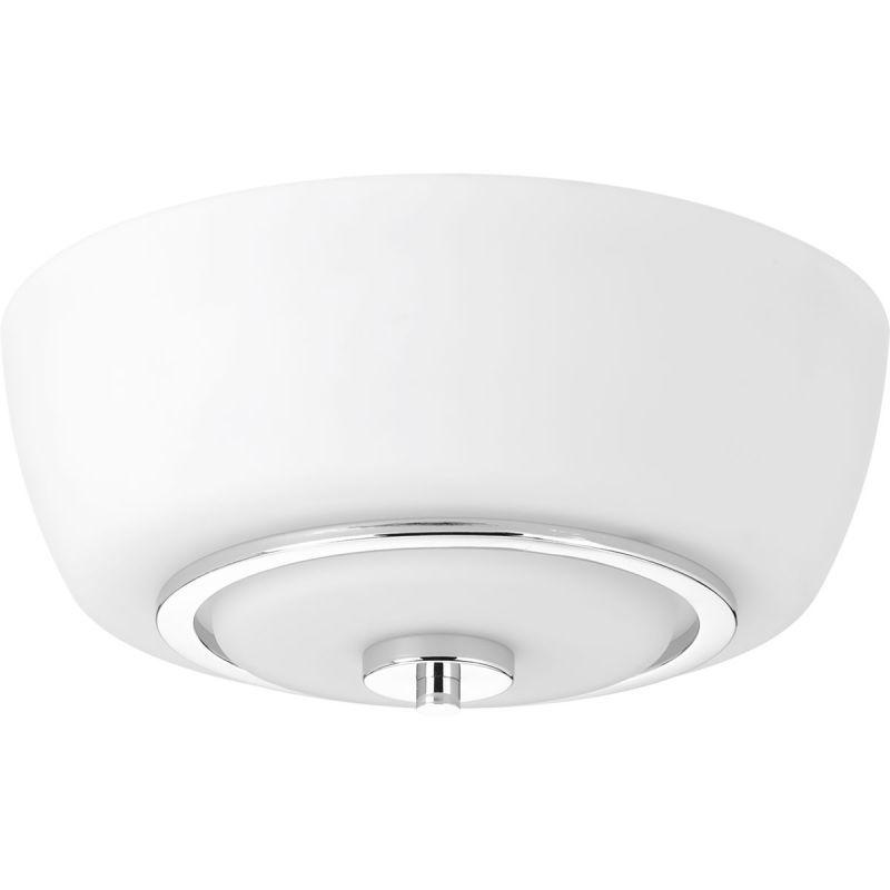 "Progress Lighting P3670 Fleet 13"" Wide 2 Light Flush Mount Ceiling Fixture with Polished Chrome Indoor Lighting Ceiling Fixtures Flush Mount"