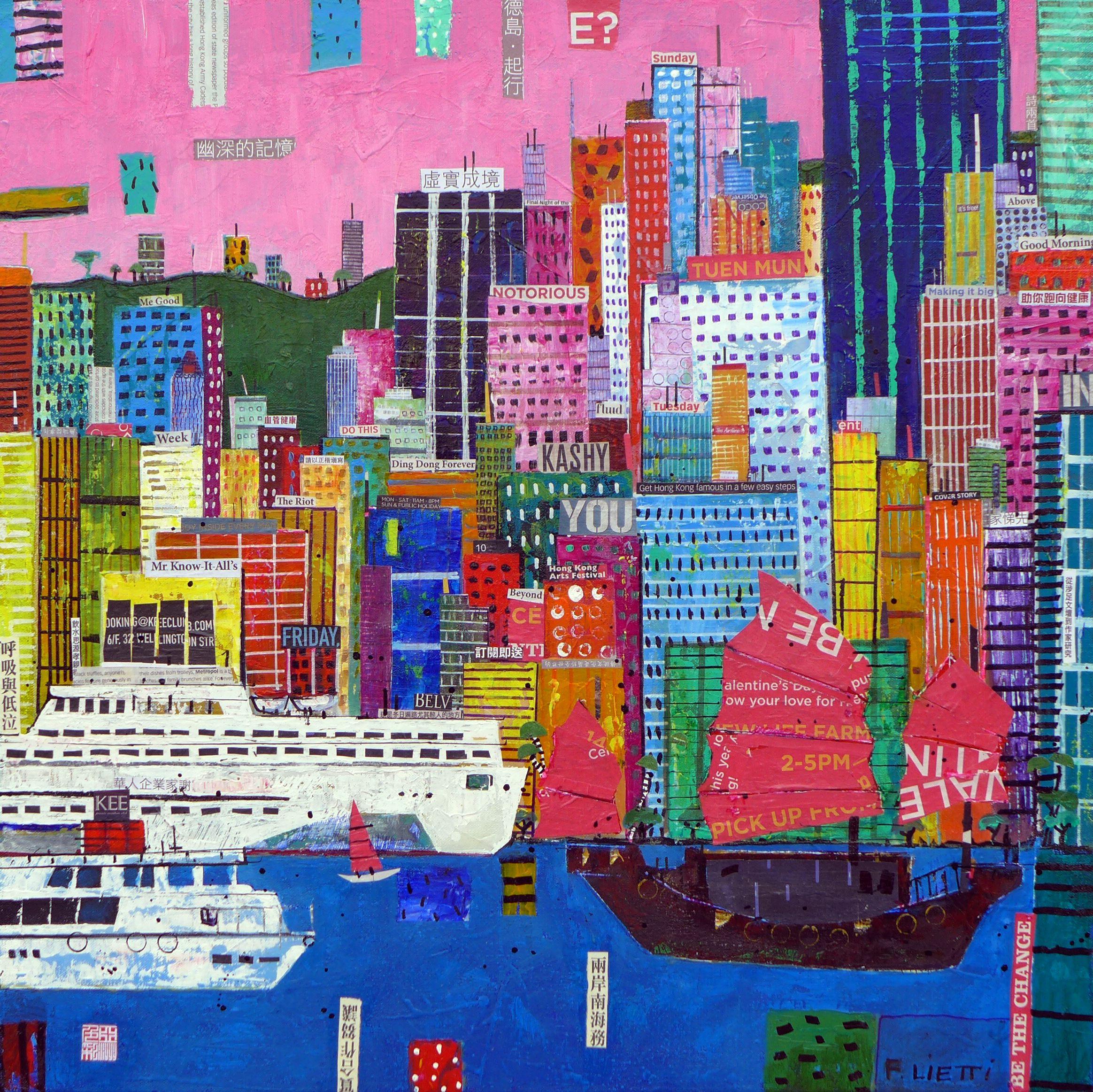 Hong Kong Art: Good Morning Hong Kong 2015 #painting #home #decoration