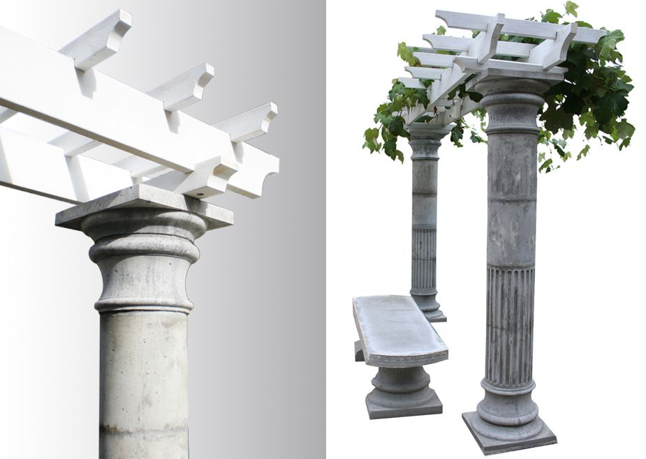 Two Piece Tuscany Column Mold Set Tuscany Columns And Roman