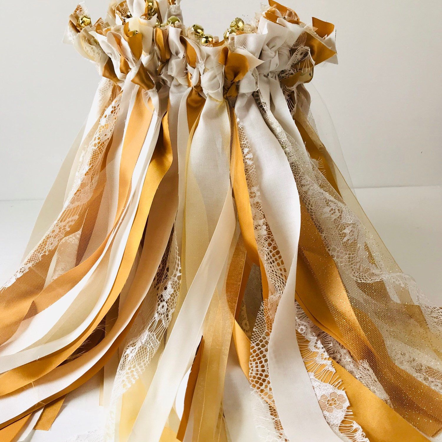 120 Wedding wands, fabric streamers with bell option