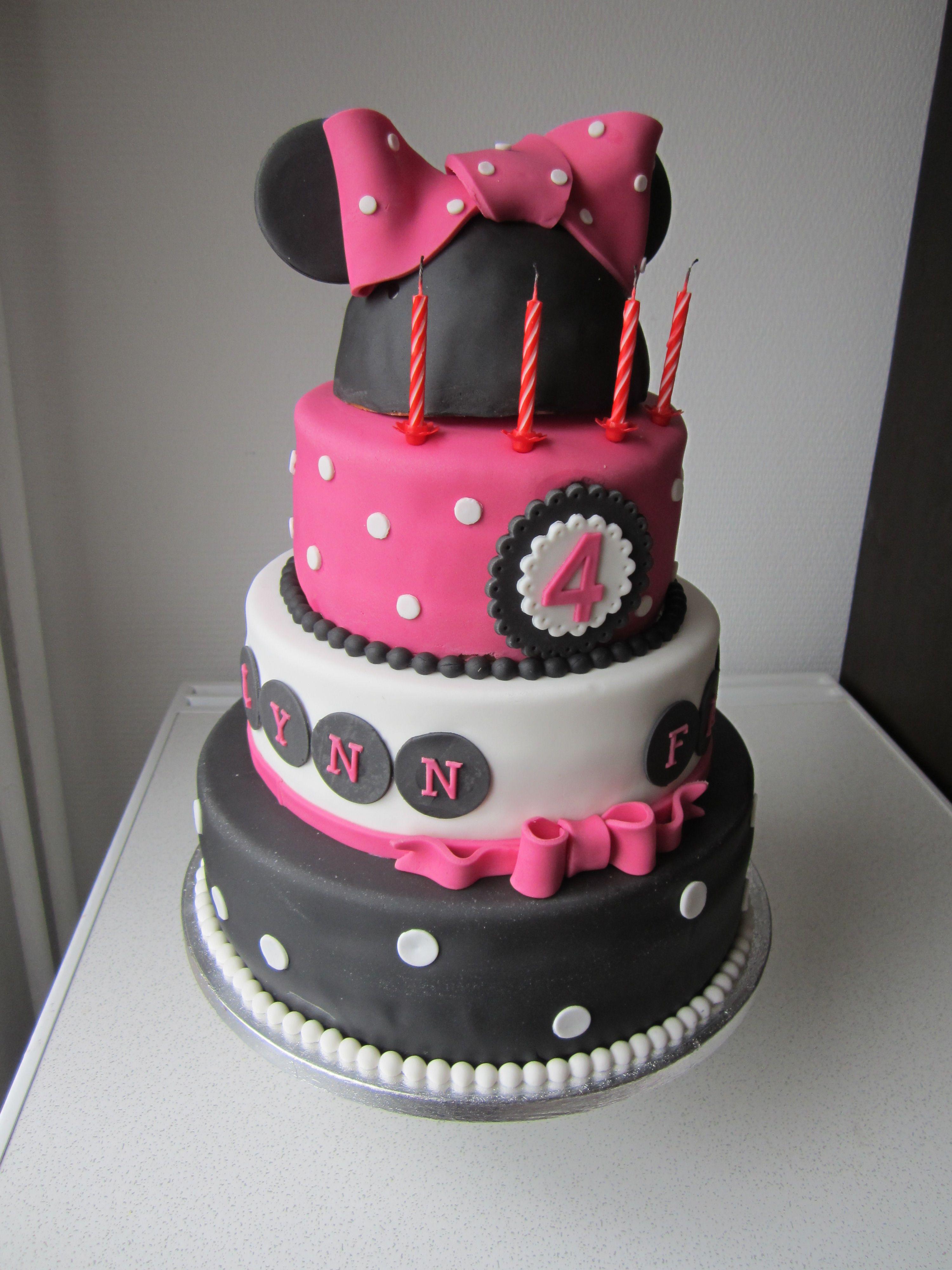 Minnie Mousse taart voor Lynn