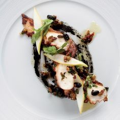 Le Bernardin chef Eric Ripert is a master at weaving together unexpected ingredients, like this tender charred octopus with a sauce of salty fermented...