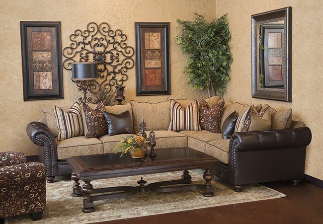 Aberdeen sectional furniture finds in 2019 tuscan - Tuscan inspired living room furniture ...