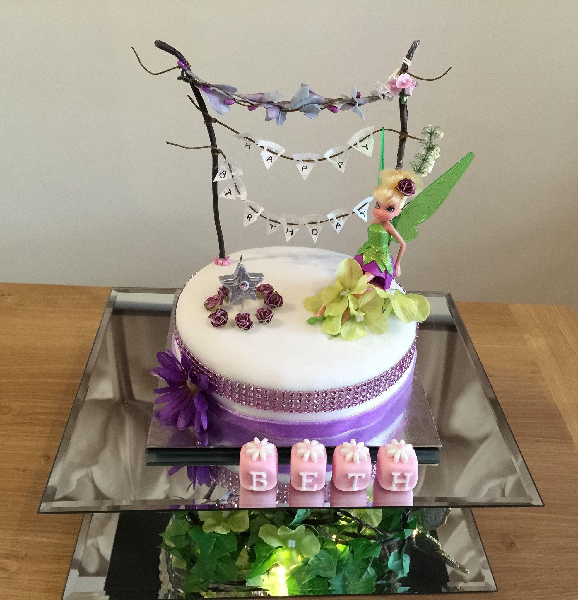 Tinkerbell Cake 1st Birthday Cakes Pinterest Cake