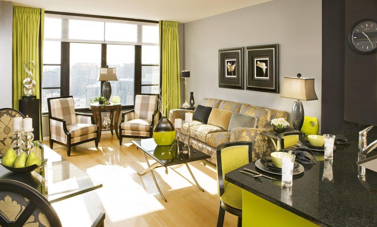 lime green living room - http://www.napleswebdesign/lime-green