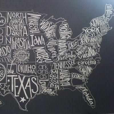 maps blackboard lettering chalkboard pinterest art