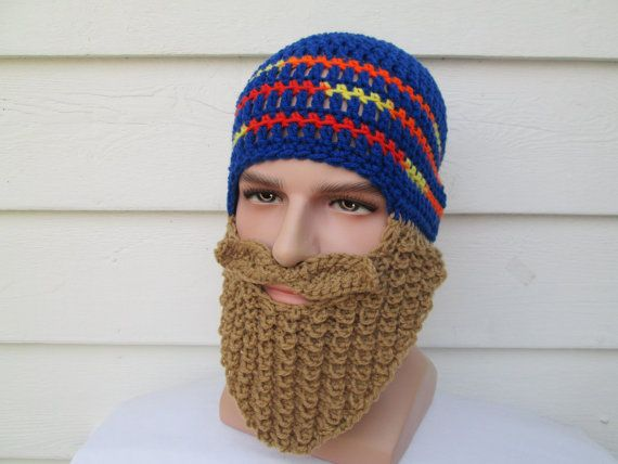 Teen long beard hat beard hats Bearded Beanie Lumberjack Cap crochet ...