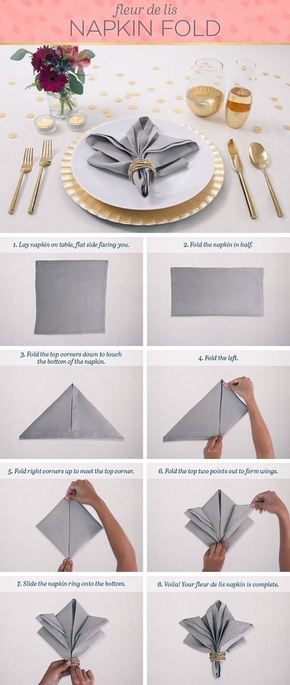 50 Attention Grabbing Napkin Folding Ideas That You Cannot Overlook Christmas Napkin Folding Diy Napkin Folding Napkin Folding