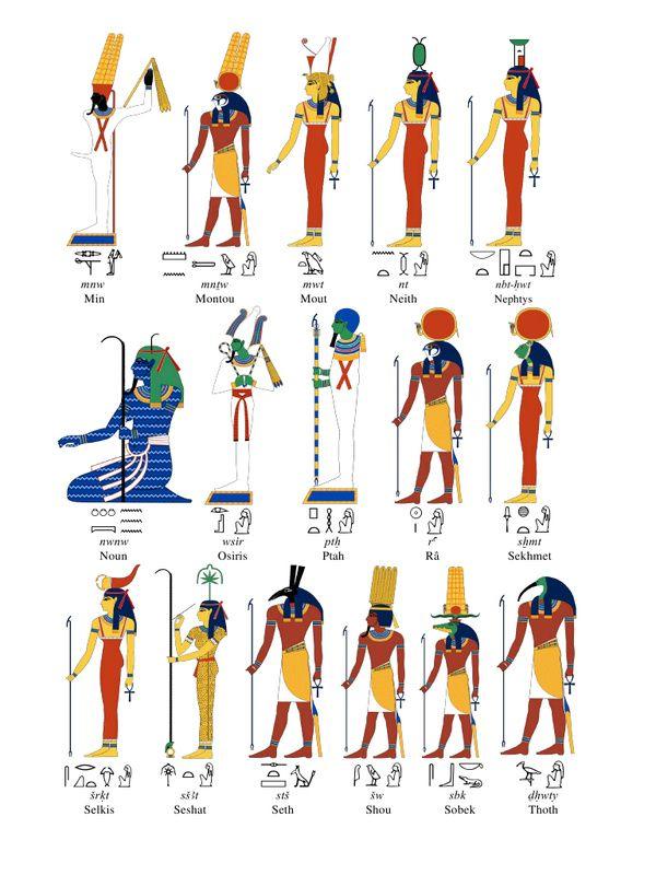 Très Dieux et Déesses egyptiens | Divinités Egyptiennes | Pinterest FP81